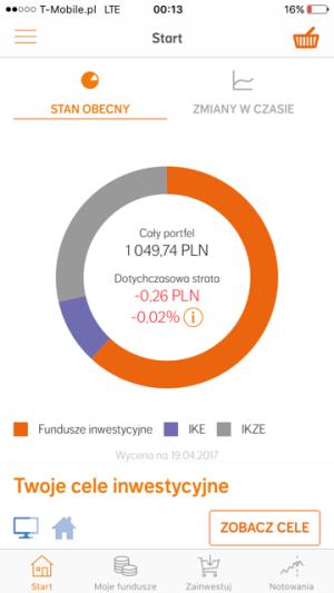 Widok z aplikacji NNTFI24.pl na telefonie